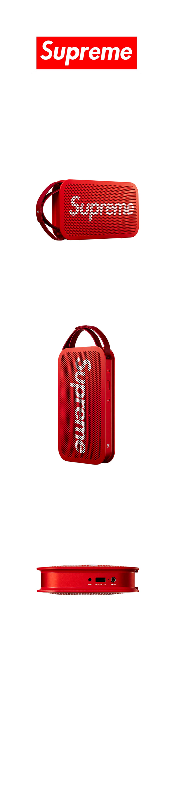슈프림(SUPREME) SUPREME Supreme®/B&O PLAY by Bang & Olufsen® A2 Portable Speaker (Red)