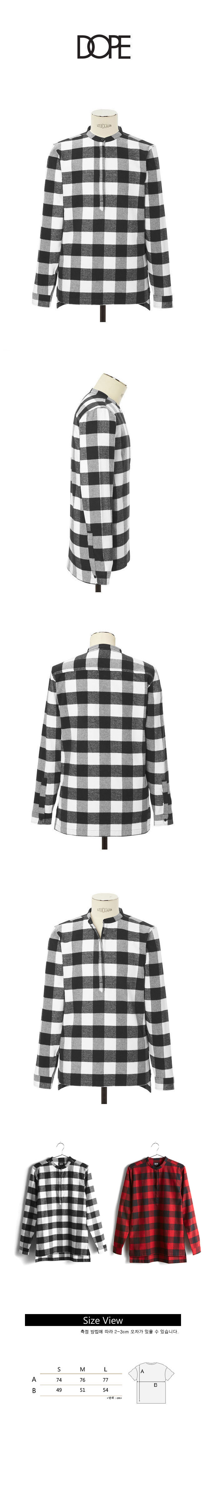 도프 DOPE Buffalo Plaid Tunic