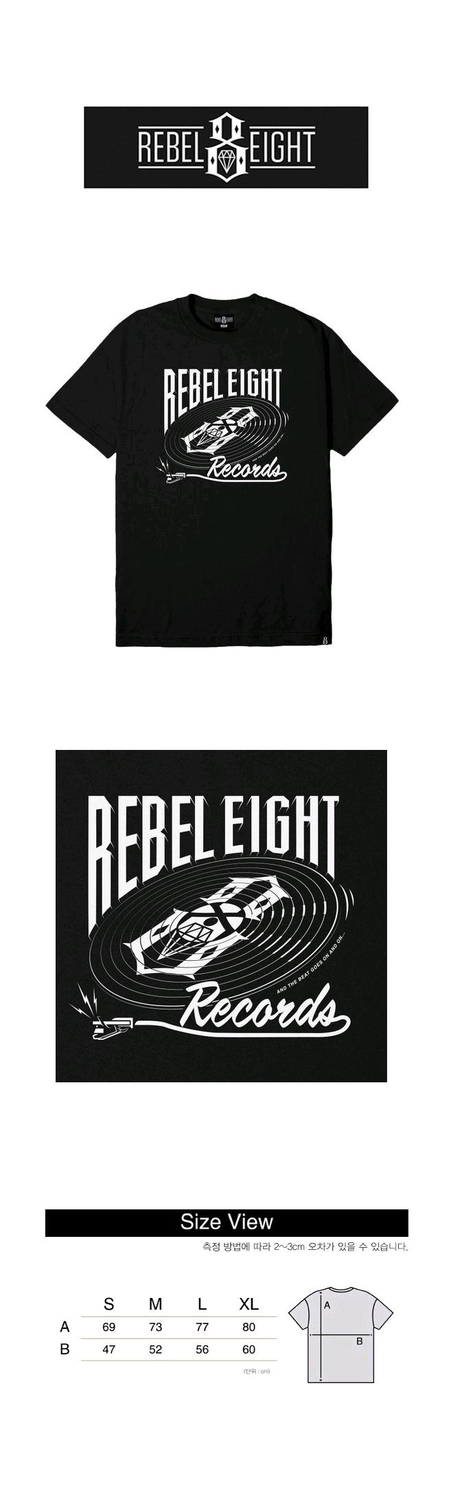 레벨8(REBEL8) REBEL8 AND THE BEAT GOES ON TEE