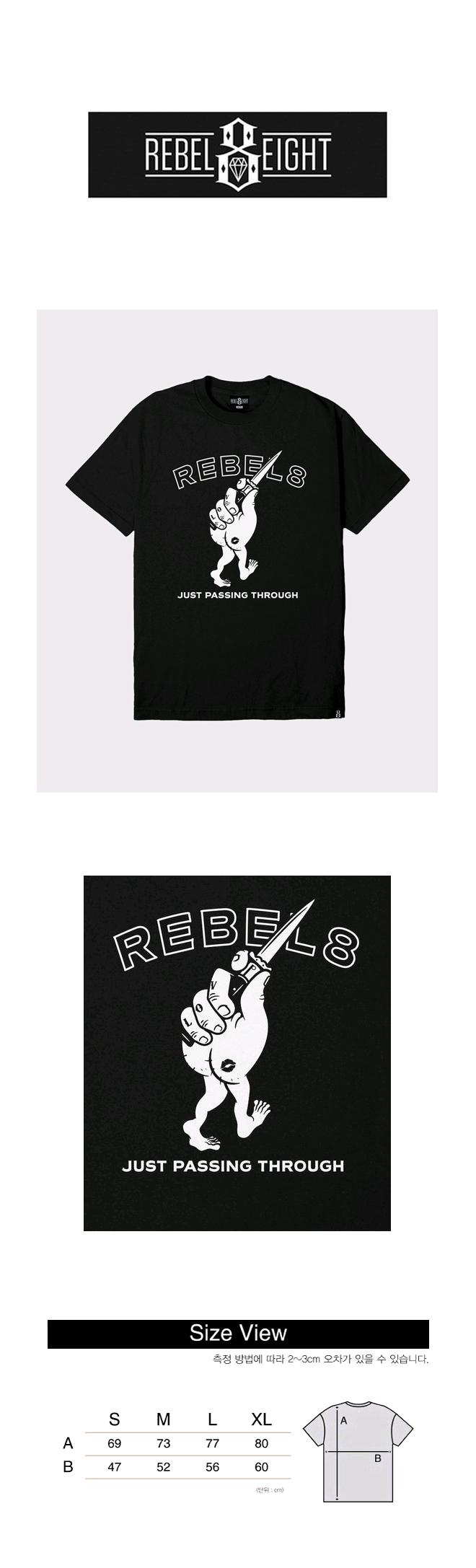 레벨8(REBEL8) REBEL8 PASSING THROUGH BLACK